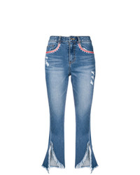 Sjyp Frayed Cut Off Jeans