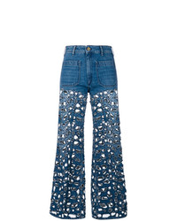 The Seafarer Laser Cut Flared Jeans