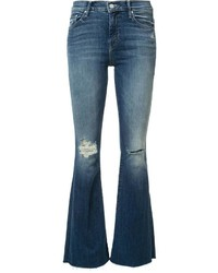 Mother Ripped Detailing Flared Jeans