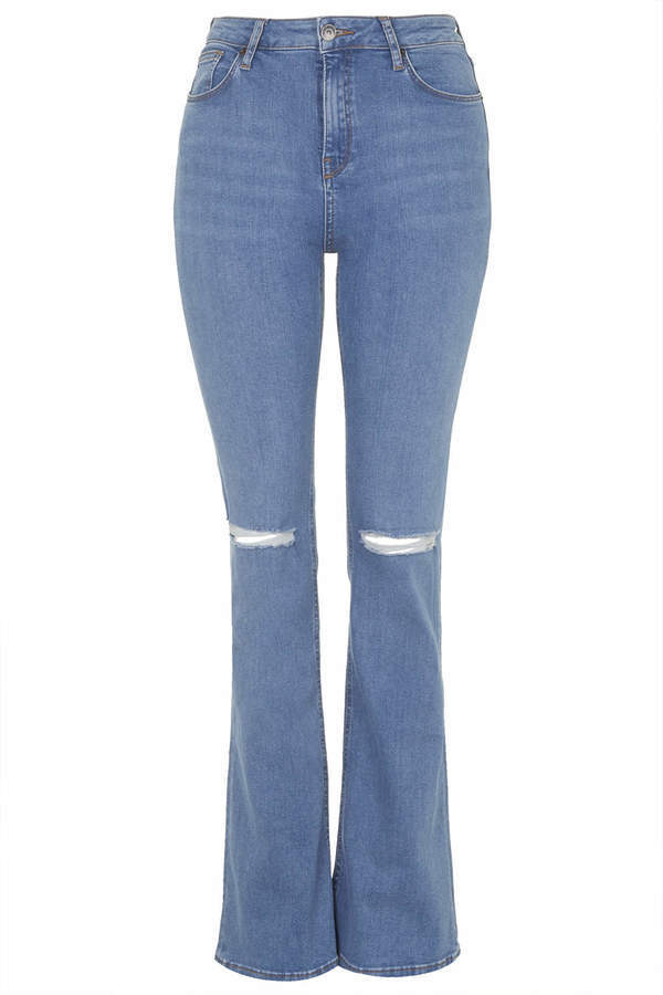 buy good competitive price order $80, Topshop Moto Jamie Ripped Flare Jeans