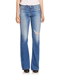 Rag and Bone Rag Bonejean High Rise Distressed Flare Jeans