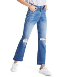 Retro ripped knee crop bootcut jeans medium 5257094