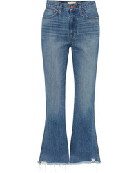 Madewell Rigid Flare Distressed Mid Rise Flared Jeans