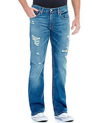 Levi's 527 Slim Bootcut Distressed Jeans