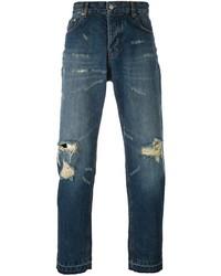 AMI Alexandre Mattiussi Distressed Jeans