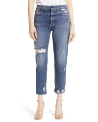 Alice + Olivia Ao La Amazing Ripped Slim Girlfriend Jeans