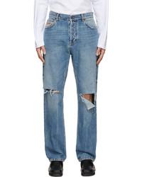 MSGM Blue Contrast Jeans