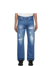 Junya Watanabe Blue Gart Treated Jeans