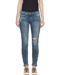Current/Elliott Blue The Ankle Skinny Jeans