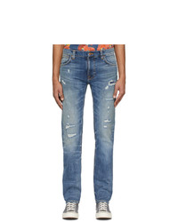 Nudie Jeans Blue Thin Finn Jeans