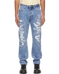 Stolen Girlfriends Club Blue Thread Bare Loose Jeans