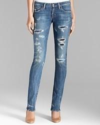 Citizens of Humanity Jeans Distressed True Denim Straight In Slash