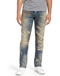 PRPS Demon Destroyed Slim Straight Leg Jeans