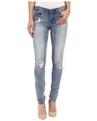Blank NYC Denim Distressed Skinny Jeans In Denim Blue