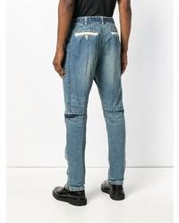 Sacai Distressed Knee Rip Jeans