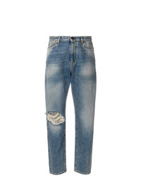 Saint Laurent Distressed Mum Jeans
