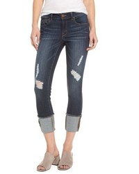 Distressed roll cuff jeans medium 5255889