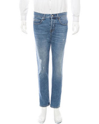 McQ by Alexander McQueen Distressed Skinny Leg Jeans