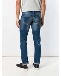 Frankie Morello Distressed Slim Fit Jeans