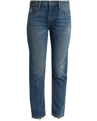 Vince Distressed Straight Leg Jeans