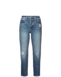 Distressed straight leg jeans medium 8622135
