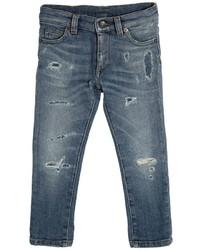 Dolce & Gabbana Slim Fit Destroyed Stretch Denim Jeans