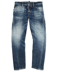 DSQUARED2 Faded Stretch Denim Jeans