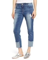Wit & Wisdom Flex Ellent Distressed Straight Leg Jeans