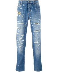 Flower embroidered jeans medium 702908