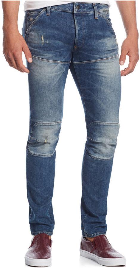 c078c13df70 ... Ripped Jeans G Star G Star Raw 5620 3d Super Slim Fit Jeans ...