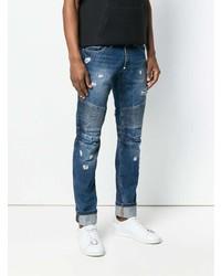 Philipp Plein Get On Top Biker Slim Fit Jeans