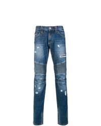 Philipp Plein Get On Top Biker Slim Fit Jeans