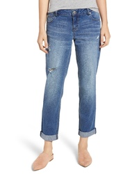 1822 Denim High Waist Cuffed Straight Leg Jeans
