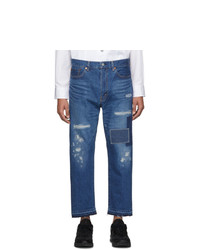 Junya Watanabe Indigo Gart Treated Patch Jeans
