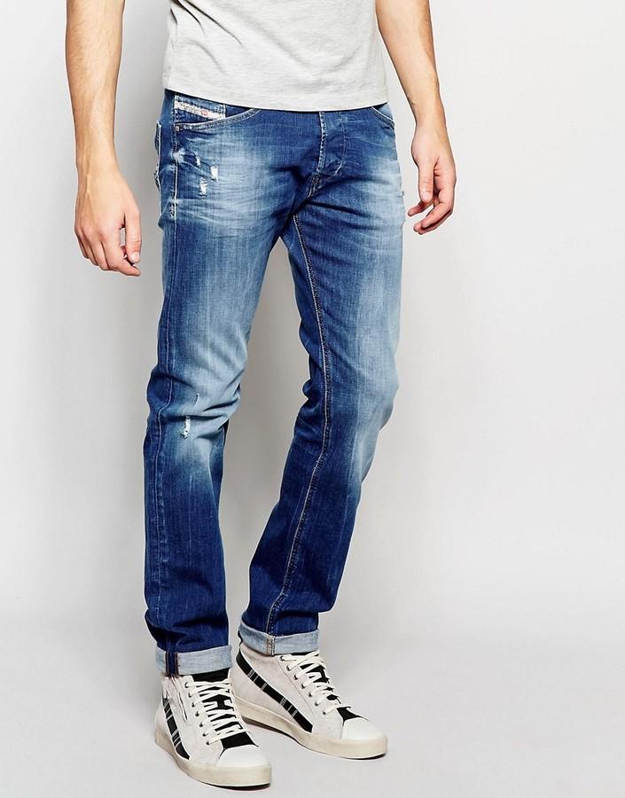 Populære Diesel Jeans Belther 669b Slim Fit Light Distressed Wash, $252 DO-22