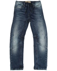 John Galliano Splattered Paint Washed Cotton Jeans