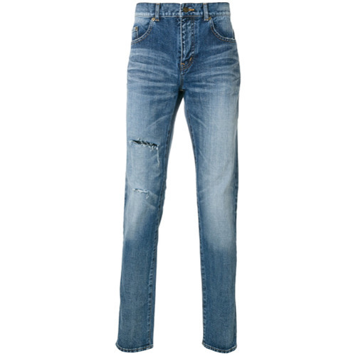 Saint Laurent Light Wash Slim Fit Jeans