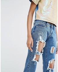 ffb9083f523 ... Liquor N Poker Tall Liquor Poker Tall Skinny Jeans With Extreme  Distressing Ripped Knees ...