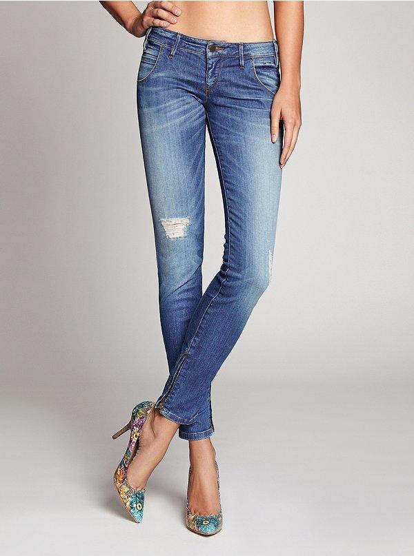 Blue Worn Low-Rise Skinny Jeans Cheap Sale Authentic u2Tm9gh6