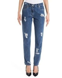 Moschino Distressed Five Pocket Jeans