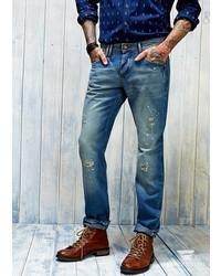 Mango Outlet Slim Fit Light Wash Steve Jeans