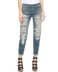 R13 shredded boyfriend jeans medium 566297
