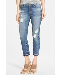KUT from the Kloth Reese Distressed Stretch Ankle Straight Leg Jeans
