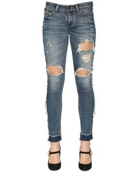 Dolce & Gabbana Ripped Cotton Denim Jeans