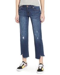 1822 Denim Twist Hem Straight Leg Jeans