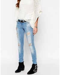 Only Ultimate Skinny Jeans With Distressing And Rips