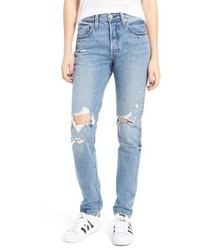 Levis 501 Ripped Skinny Jeans