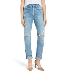 Madewell Perfect Vintage Ripped High Waist Boyfriend Jeans