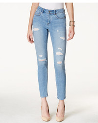 Vince Camuto Two By Ripped Rip Blue Wash Skinny Jeans
