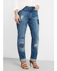 Violeta BY MANGO Ripped Details Slim Fit Jeans
